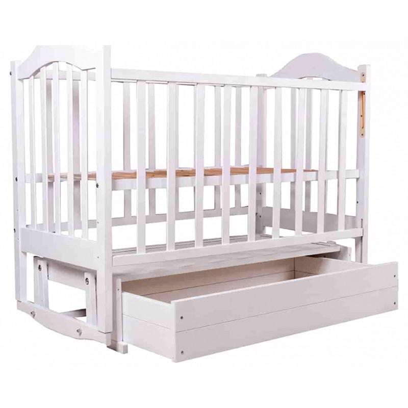 Кроватка Дина опуская боковина с маятником и ящиком BabyRoom