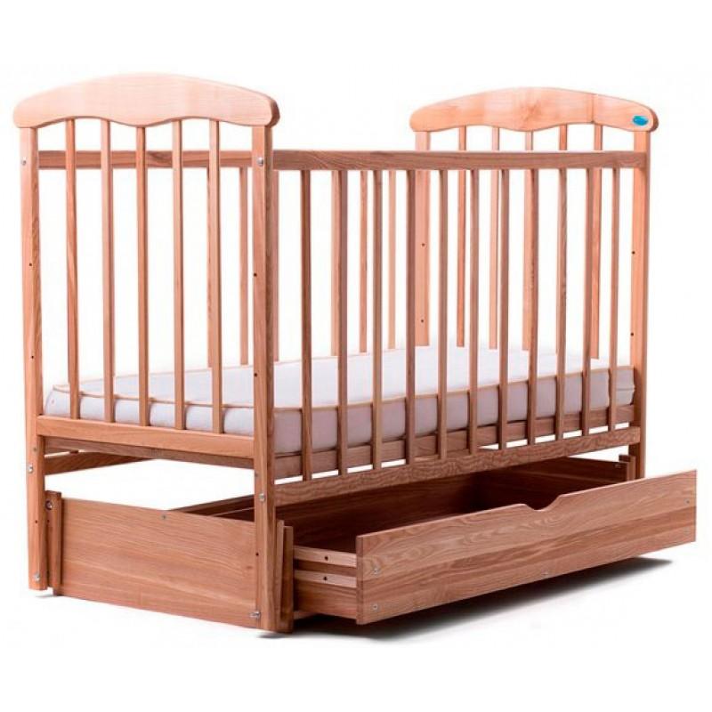 Детская кроватка Наталка с маятником и ящиком