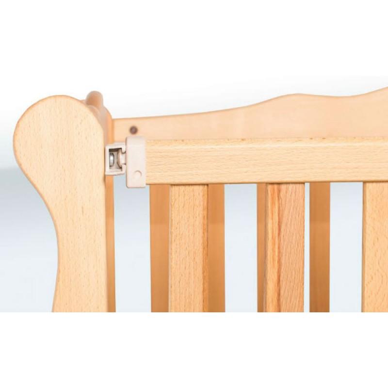 Детская кровать-маятник Натали с откидной боковиной и ящиком