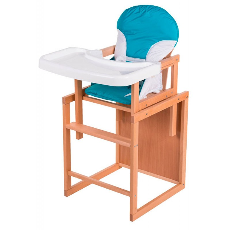Детский стульчик для кормления с пластиковой столешницей For Kids