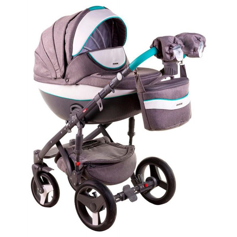 Коляска для новорожденного  2 в 1 Adamex Monte Carbon Deluxe