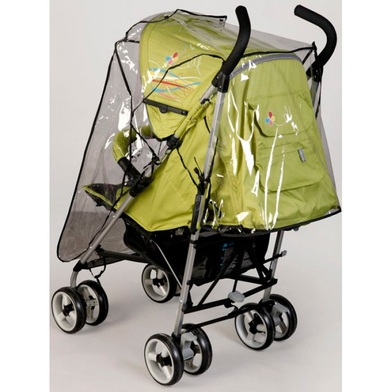 Дождевик на прогулочную коляску с молнией Baby Breeze