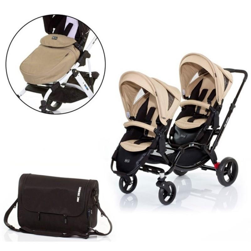Детская прогулочная коляска для двойни ABC design Zoom