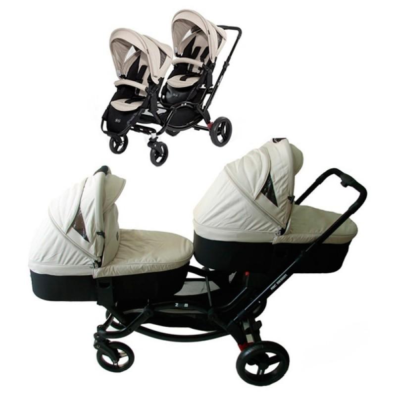 Универсальная детская коляска для двойни ABC Design ZOOM