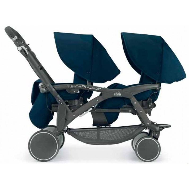 Универсальная коляска 2 в 1 для двойни Cam Twin Pulsar