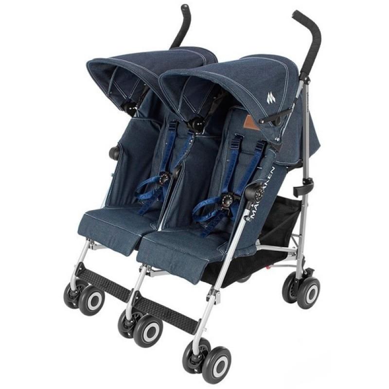 Прогулочная коляска для двойни TWIN TRIUMPH DENIM NEW Maclaren