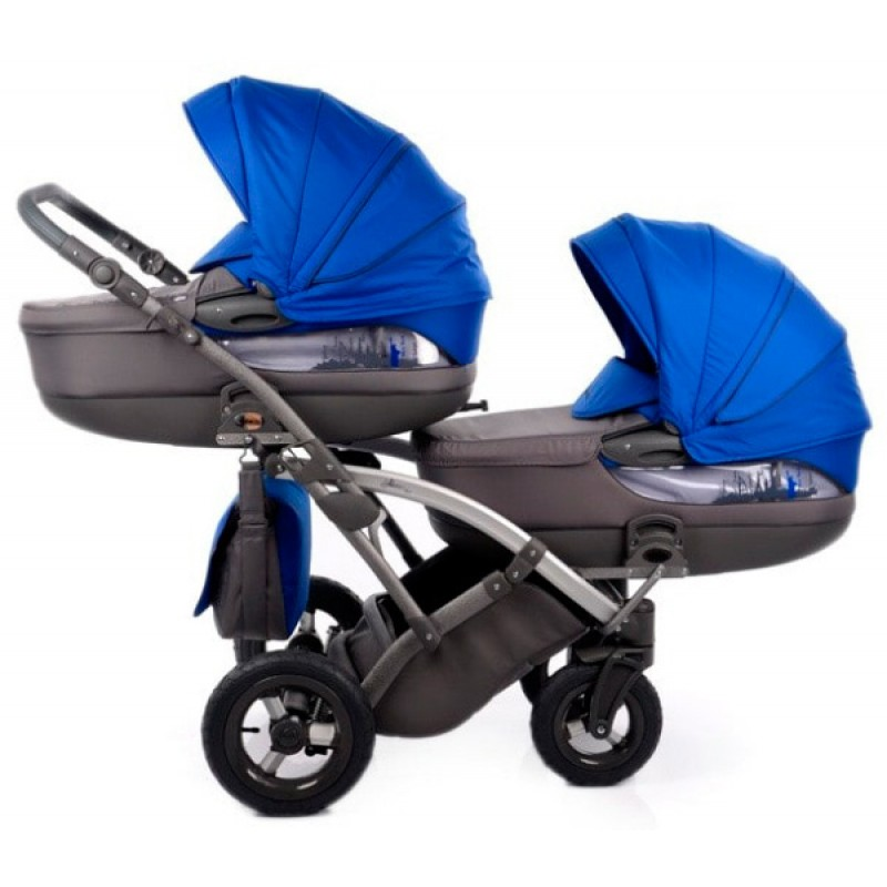 Детская универсальная коляска 2 в 1 для двойни и погодок Tako City Move Duo