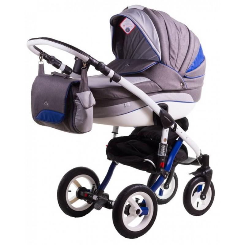 Детская коляска для новорожденного 2 в 1 Adamex Aspena Rainbow