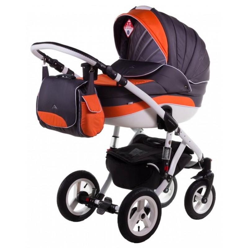 Детская коляска для новорожденного 2 в 1 Adamex Aspena