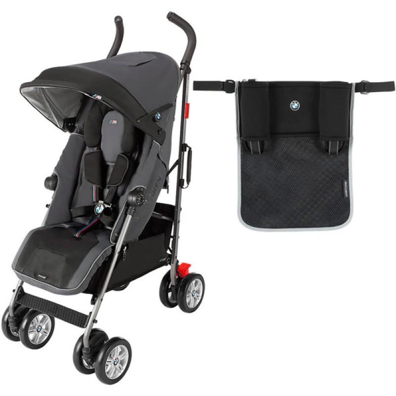 Детская прогулочная коляска трость Maclaren BMW M