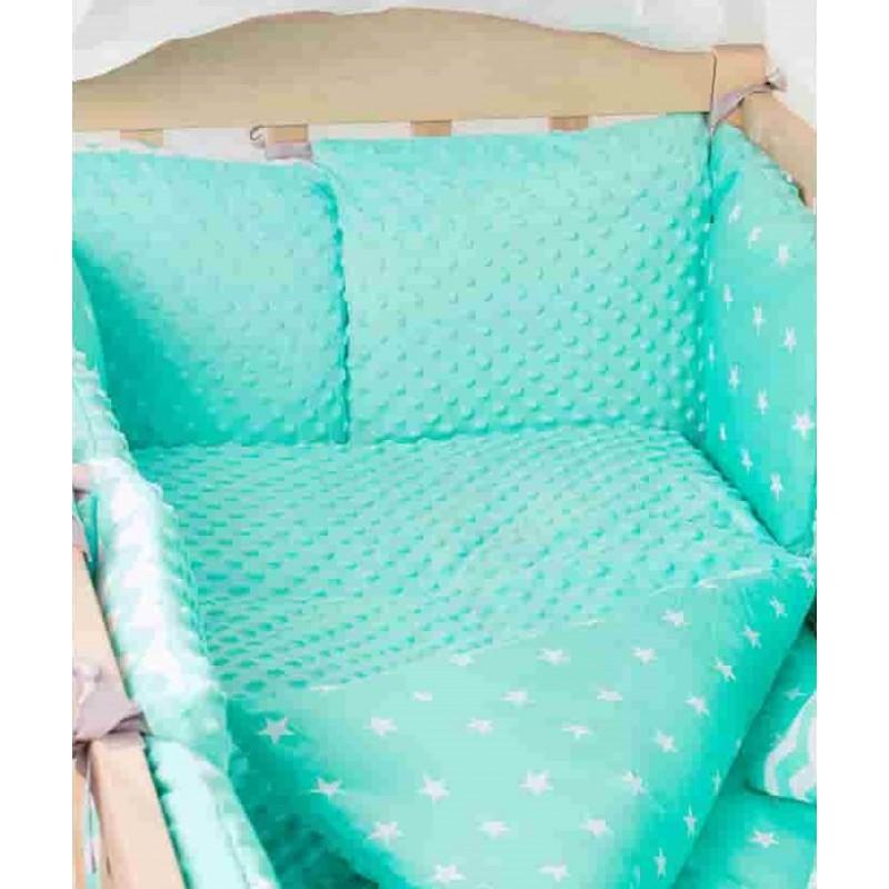 Комплект детского постельного белья Babyroom Бортики lux плюш 9 элементов