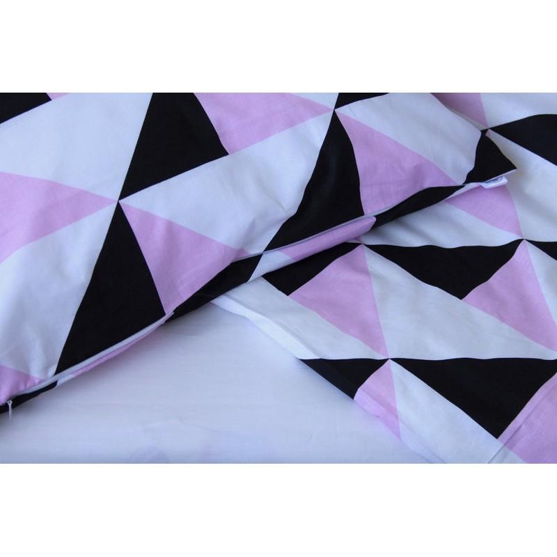Детский комплект сменного постельного белья Рожева геометрия