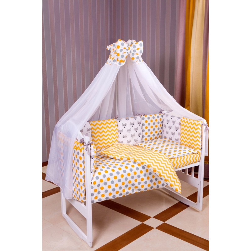 Комплект детского постельного белья Лисички Babyroom 9 элементов