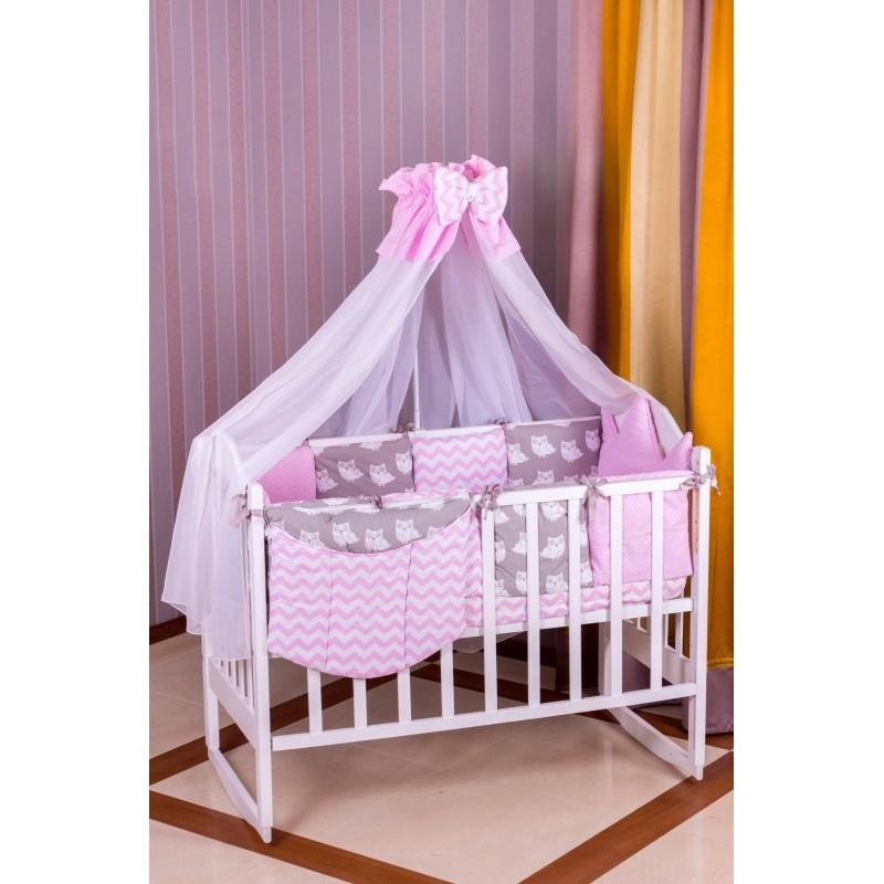 Комплект детского постельного Babyroom Бортики Совы 9 элементов