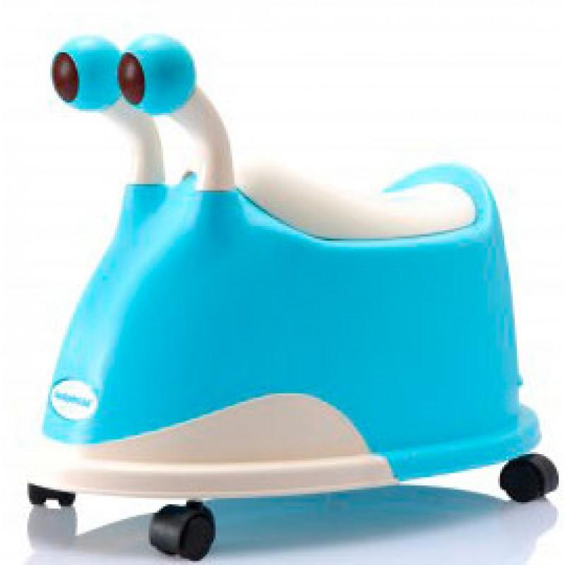 """Горшок детский Babyhood """"Улитка"""" с колёсами"""